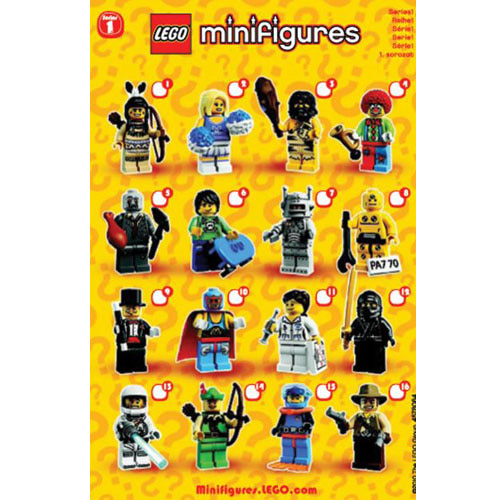 레고 설명서 인스 8683 미니피규어1탄 Minifigure, Series 1 (Complete Random Set of 1 Minifigure) Instruction
