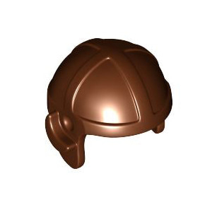 레고 부품 조종사 헬멧 적갈색 Reddish Brown Minifigure, Headgear Cap, Aviator 4507049