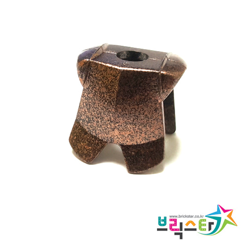 레고 부품 갑옷 금속성 느낌의 검정-카퍼 Speckle Black-Copper Minifigure, Armor Breastplate with Leg Protection