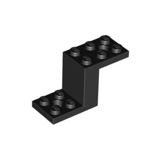 레고 부품 브라킷 검정색 Black Bracket 5 x 2 x 2 1/3 with 2 Holes and Bottom Stud Holder 6012983
