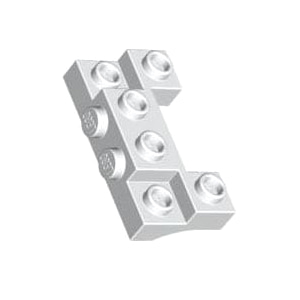 [USED변색있음]레고 부품 변형 브릭 흰색 White Brick Modified 2 x 4 - 1 x 4 with 2 Recessed Studs and Thick Side Arches 4259942