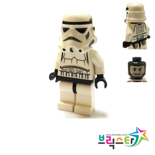 레고 피규어 스타워즈 스톰트루퍼 Stormtrooper (Detailed Armor, Patterned Head, Dotted Mouth Pattern) 10236